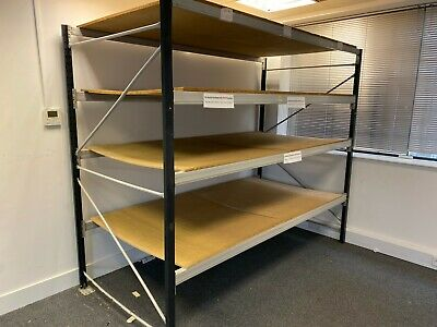Industrial Shelving / Pallet Racking. 4 Shelves, Adjustable, Clicks together