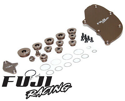 Fuji Racing Billet Cylinder Block Blanking Cover Plug Set No Modine