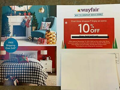 New WAYFAIR 10% OFF COUPON FIRST ORDER Only EXPIRES 12/15/2019 Fast Delivery