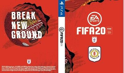 Fifa 20 Crewe Alexandra Cover for PS4 Playstation 4 Game Sleeve Print New