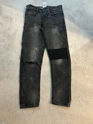 Boys Skinny Distressed Ripped Jeans From Next Age 8