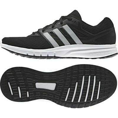 Adidas Galaxy 2 Mens Trainers Running Shoes AF6686 Black White Size UK 8 EU 42