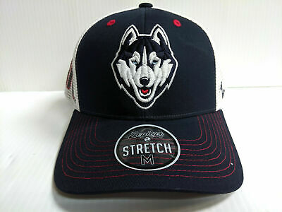 new authentic outlet store differently UCONN HUSKIES ZEPHYR Dark Navy Rambler Structured Stretch Fit Hat ...