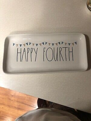 Rae Dunn Happy Fourth Platter