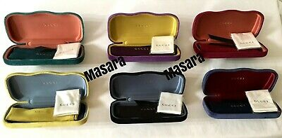Gucci Glasses Clam shell Velvet Branded Case With Cleaning Cloth And Dust Bag