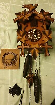 Vintage German 8 Day Cuckoo Clock Full Working order RHS