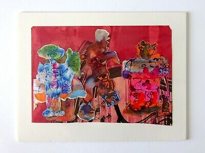 Vintage Abstract Outsider Art Painting by listed artist Jesse Soifer