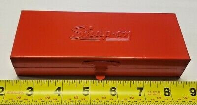 """Snap-On - 15 PC - 1/4"""" Drive - 6 PT - Socket Set - w/ Metal Case - Made in USA"""