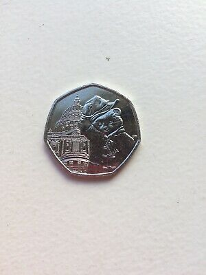 New Uncirculated 2019 UK Paddington Bear at St Pauls 50p Coin From Sealed Bag.