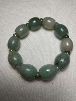 Grade A 100% Natural Genuine Burmese Jadeite Jade Beaded Stretchy Bracelet A#87