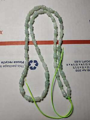 Grade A 100% Natural Genuine Burma Jadeite Jade Gourd Beaded Necklace A#18