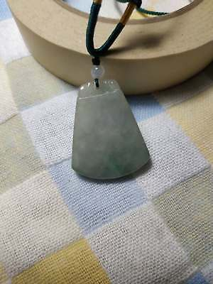 Grade A 100% Natural Burma Jadeite Jade Pendant Necklace (Safe buckle cards)#689