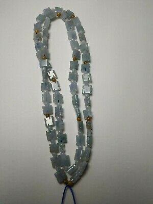 Grade A 100% Natural Genuine Burma Jadeite Jade Beaded Necklace #8873