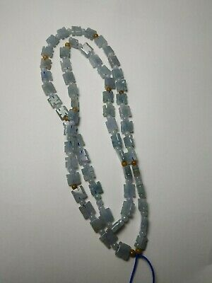 Grade A 100% Natural Genuine Burma Jadeite Jade Beaded Necklace #8876