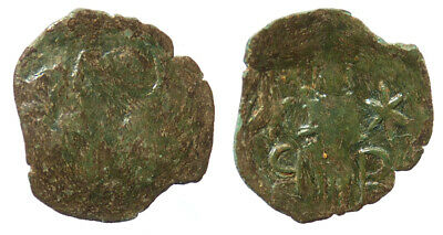 Byzantine Andronicus III Palaeologus AE Trachy Thessalonica mint SB 2490