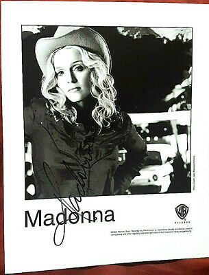 """Madonna Autographed 8""""X10""""  2000 Promo Photo From Warner Bros.!!!"""