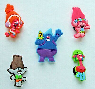 SHOE CHARMS (R5) - CARTOON CHARACTERS inspired by TROLLS (5TRL) pack of 5