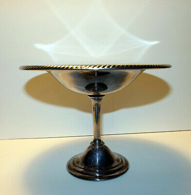 """Silverplate Platter / Tray on Pedestal by Wm Rogers, 5 3/8"""" Tall, Weighs 12 oz"""