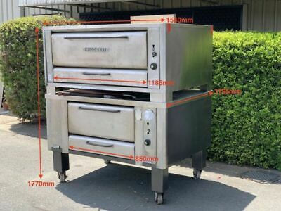 Blodgett Double Deck 1048 911 Commercial Gas Pizza Oven - Used