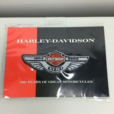 Harley Davidson Motorcycles 100 Year 1903-2003 Small Logo Patch 97912-02V Wings