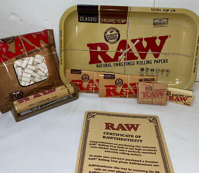 RAW ROLLING KIT 7x11 Tray, Filters, 110mm Roller, 2 King Size Paper, Hydrostone
