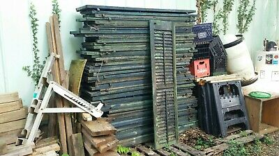 1800s Wooden Window Shutters LOT of 40+ Architectural Salvage Colonial Farmhouse