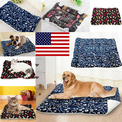 Pet Cat Dog House Kennel Puppy Cave Sleeping Bed Super Mat Pad Warm Nest S-XL