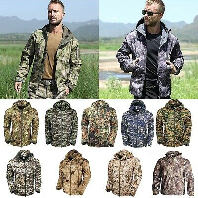 Waterproof Men's Jacket Soft Shell Outdoor Hiking Hunting Military Tactical Coat