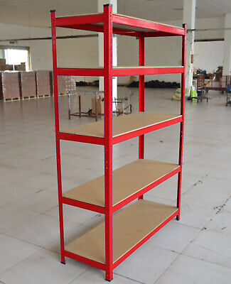Garage Shed 5 Tier Racking Storage Shelving Units Boltless Strong Stable Shelves