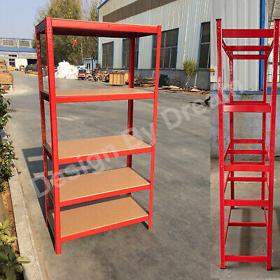 Heavy Duty Garage Racking Storage Shelving Units Boltless Thicken Shelves 5 Tier