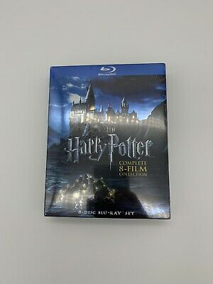 HARRY POTTER COMPLETE 8 FILM COLLECTION BLU RAY-Brand New & Sealed-Fast Shipping