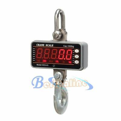 Heavy Duty Hanging Scale with Remote 1000KG 2000LBS Aluminum Digital Crane Scale