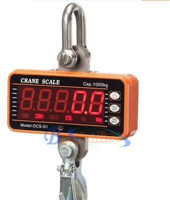 Heavy Duty Hanging Scale with Remote 1000KG Aluminum Digital Crane Scale 2000LBS