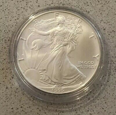 1995 American Silver Liberty Eagle $1 One Dollar 1Oz  Coin In Capsule