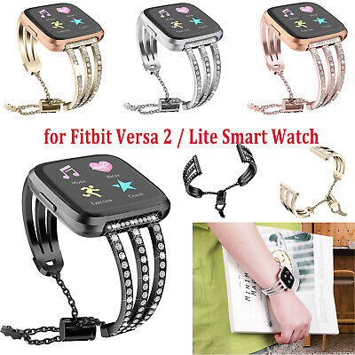 Adjustable Strap Metal Band Replacement for Fitbit Versa 2 / Lite Smart Watch