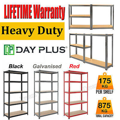 Garage Shed Racking Storage Shelving Units Boltless Metal Shelves 5 Tier-Thicken