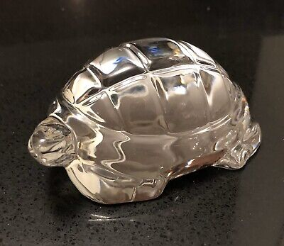 Vintage BACCARAT France Crystal Glass Turtle Tortoise Paperweight Figurine-Mint!