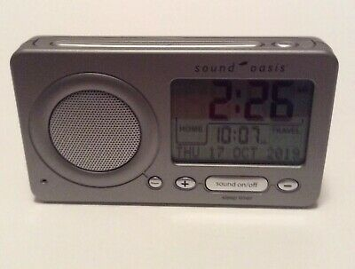 Sound Oasis S-850 Travel Sleep Sound Therapy System Alarm Clock **TESTED**