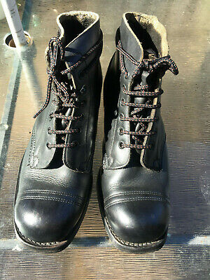 BRITISH ARMY ANKLE LEATHER DRILL PARADE BOOTS CADETS NAVY RAF SIZE 9 used