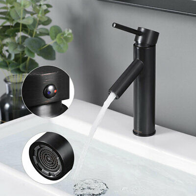 ORB Single Hole 1 Lever Bathroom Faucet Cold & Hot Water for Under Mount Sink