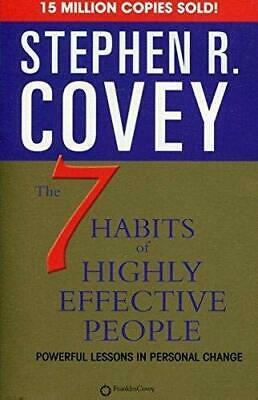 The 7 Habits of Highly Effective People By Stephen R. Covey Paperback NEW