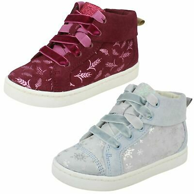 Girls Clarks Disney Frozen Ankle Boots 'City Frost'