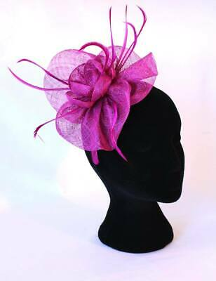 Women's magenta / pink / purple Fascinator 'The Katherine'