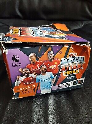 17O#  Match Attax Extra 2018 2019 full box of 50 packs 2018 19  offer