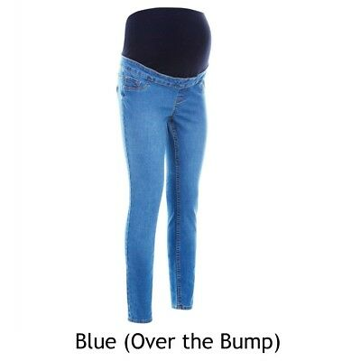 Maternity New Look Jeggings BLUE Jeans Over The Bump Sizes 8 - 16 BM62