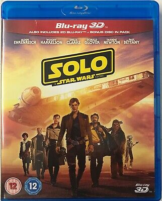 Solo: A Star Wars Story  [Blu-ray] Preowned Missing 3D Version Free UK P&P