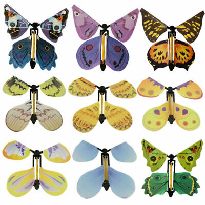 10pcs Card Magic Flying Plastic Butterfly Surprise Birthday Gift Fadd#hfhm