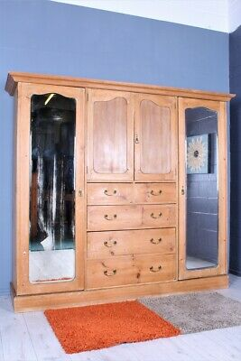 Delivery Options -  Beautiful Old Antique Pine Wardrobe Lots Rustic Character