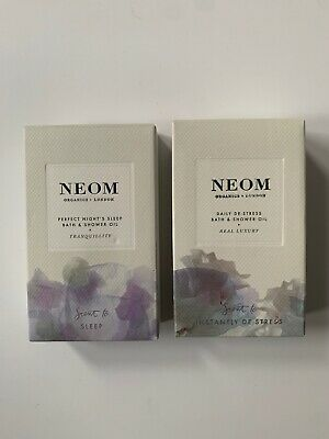 *NEW* Neom Perfect Night's Sleep And Daily De-Stress Bath & Shower , Oil 2 x10ml