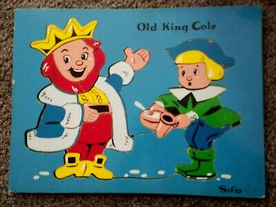 "Vintage Wooden SIFO Puzzle ""OLD KING COLE""  20 pcs"